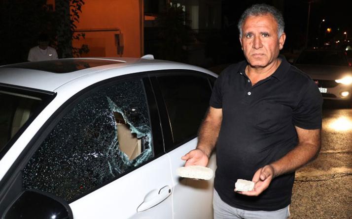 Alkollü genç otomobilleri taşa tuttu! Vatandaş yakalayıp polise teslim etti