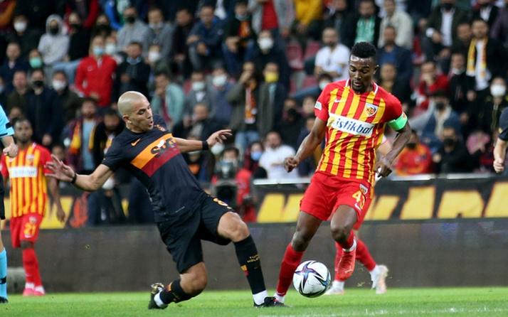Kayserispor-Galatasaray maçı özet ve golleri