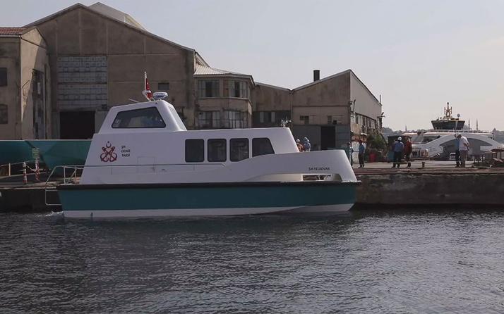 İstanbul Büyükşehir Belediyesi'nin ürettiği deniz taksiler suya indi