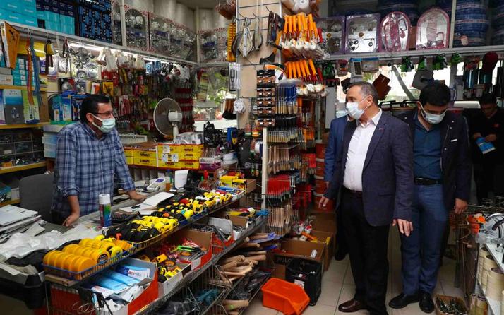 Bağcılar Belediye Başkanı Lokman Çağırıcı esnafı ziyaret etti pahalılığın nedenini sordu