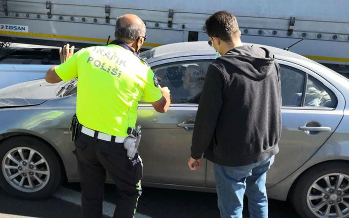 Aksaray'da radara giren sürücü dur ihtarına uymadı ortalığı birbirine kattı