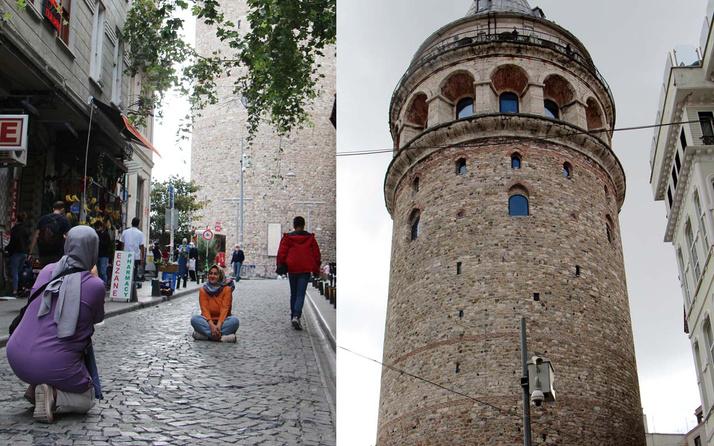 Galata Kulesi'nde fotoğrafları bozan KGYS direği kaldırılıyor