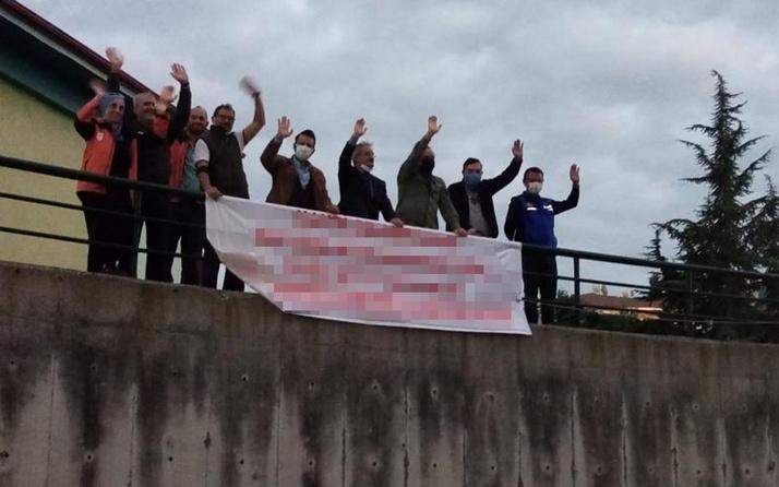 Pankartı gören şaştı kaldı! Sakarya'da hastanenin karşısına açtılar