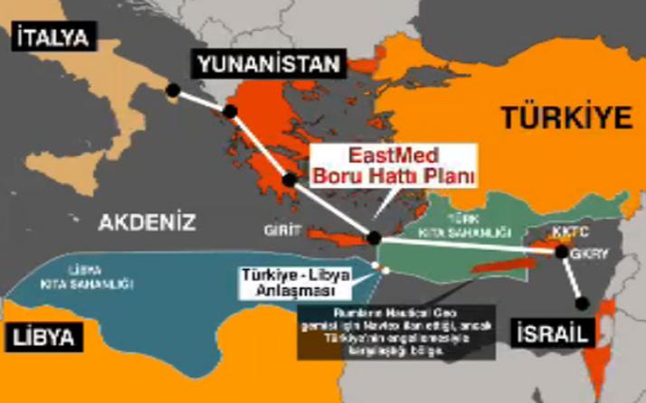 İsrail ve Güney Kıbrıs'ın ortak boru hattı projesi! Yunan basını gerçeği yazdı