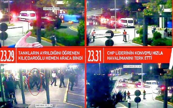 Darbe gecesi Kılıçdaroğlu'nun kaçma görüntüleri bomba!