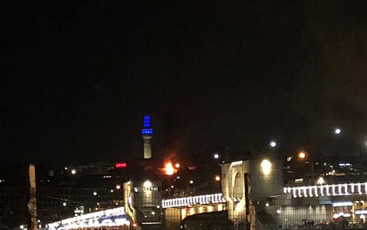 Eminönü'nde bir iş hanında yangın