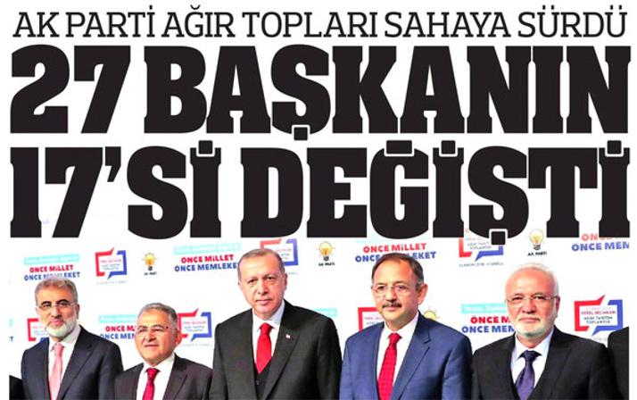 AK Parti'nin yeni belediye başkan adayları kimler? Gazeteler ne manşet attı?