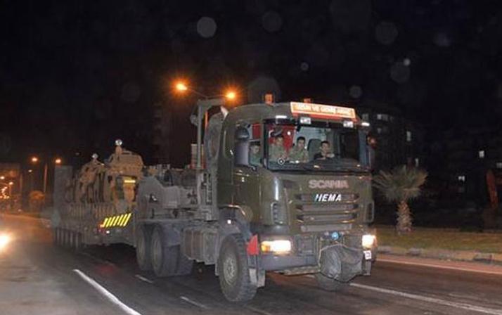 Afrin'e büyük askeri sevkıyat