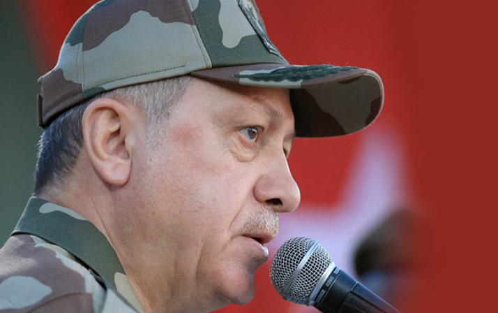 Erdoğan ilk kez askeri üniforma giydi! İşte başkomutan Recep Tayyip Erdoğan