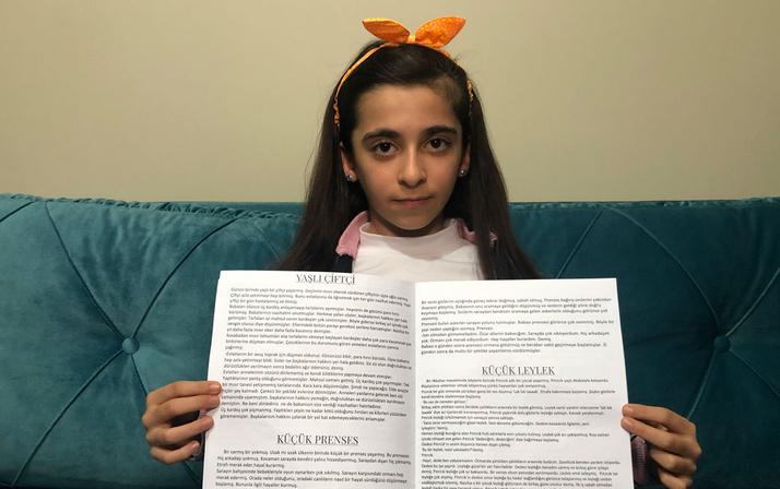 Öğretmeni keşfetti 9 yaşında kitap yazdı