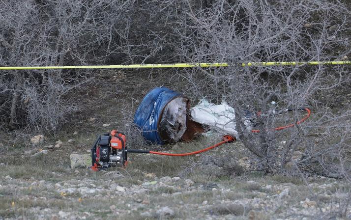 Yozgat'ta preslenmiş varil içerisinden ceset çıktı