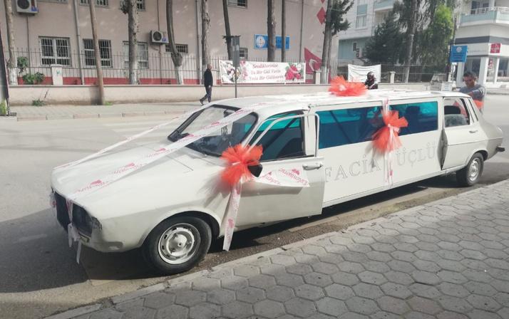 Osmaniyeli gencin olay gelin arabası! Eski model otomobili limuzin yaptı