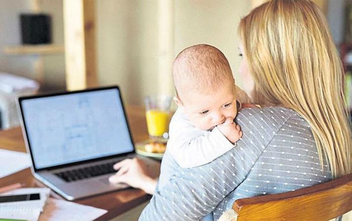 SSK'lıyken doğum yapan kadına yarım gün iş tam maaş!