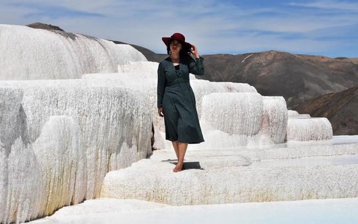 Görenler Pamukkale sanıyor gizli kalmış doğa harikaları görenleri şaşırtıyor