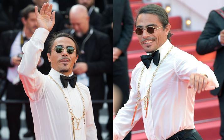Kolye ve ayakkabısı olaydı Nusret'in Cannes Film Festivali'ndeki haline bakın