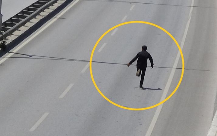 Uşak'ta intihardan vazgeçen adam koşarak kaçtı