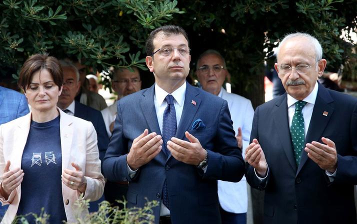 Kılıçdaroğlu ve İmamoğlu'ndan ilk İBB başkanının kabrine ziyaret