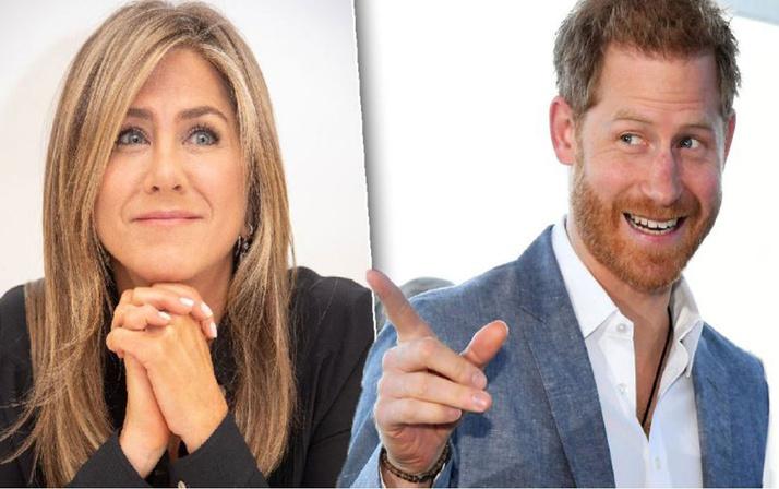Jennifer Aniston'ın peşinden koşmuş! Prens Harry Jennifer Aniston'a aşıkmış!