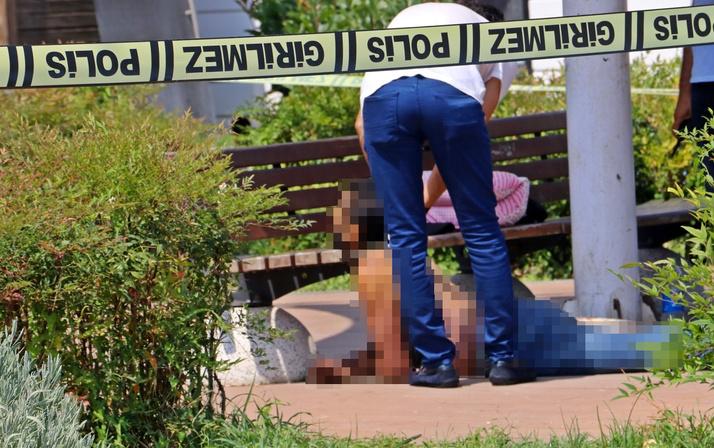 Antalya'da görenler hayrete düştü! Bankta güneşlenir gibi uzanıyordu