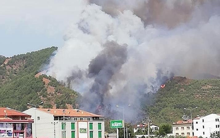 Dalaman ve Milas'tan sonra Fethiye'de yangın başladı!