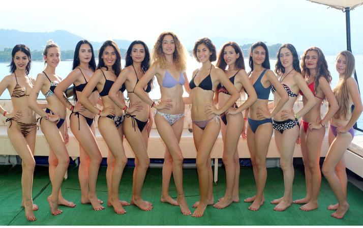 Güzellik yarışması finalistlerinin havuzdan sonra yat keyfi! 'Akdeniz Güzelini Arıyor'