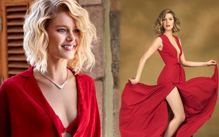 Bikinili yakalanınca olay olan Burcu Biricik kırmızı mini elbisesiyle dans etti!