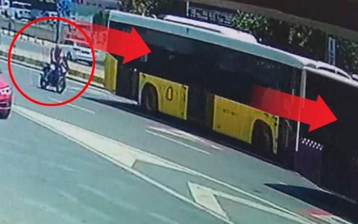 Şişli'de dehşet anları! Otobüsün altına girdi