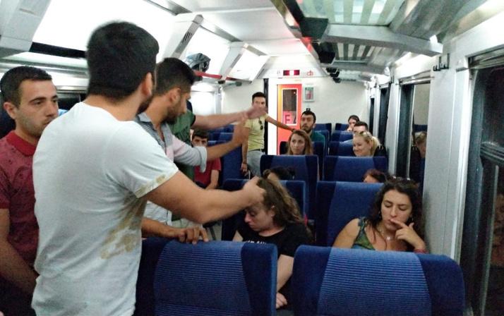 Eskişehir Kütahya trenini birbirine katan kadın trene 2 saat rötar yaptırdı