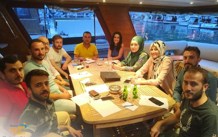 Sosyal medyayı karıştıran AK Parti Beykoz gençlik kollarının yat pozu