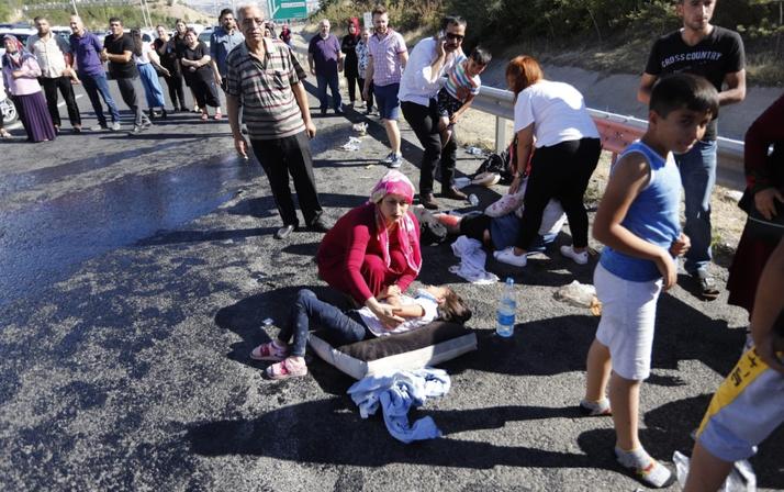 Ankara'da piknik yolunda kaza 16 yaralı