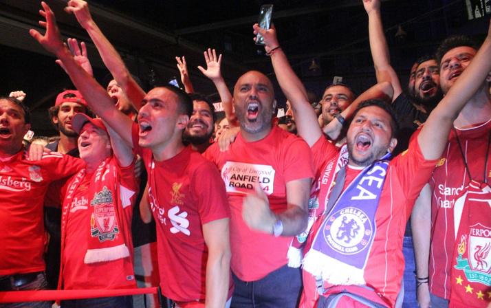 Liverpoollu taraftarlar maç öncesi İstanbul'da doyasıya eğlendi