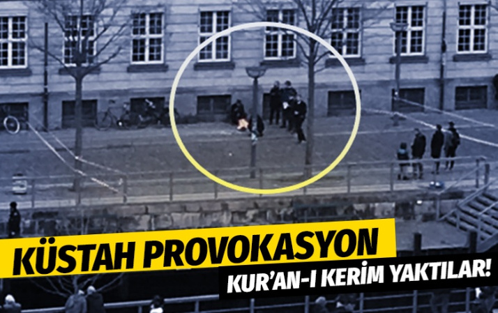 Avrupa'nın göbeğinde küstah provokasyon: Kur'an-ı Kerim yaktı!