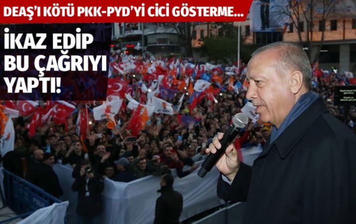 Erdoğan: Batı'daki saldırıları görmezden geliyorlar