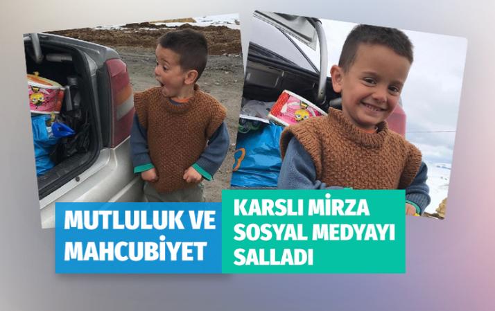 Karslı Mirza'nın oyuncak mutluluğu sosyal medyayı salladı