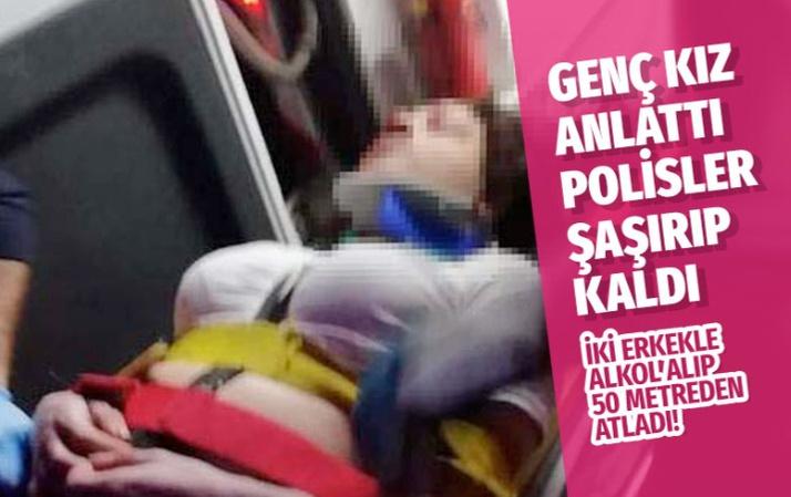 Amasya'da uçurumdan düşen genç kız şoke etti
