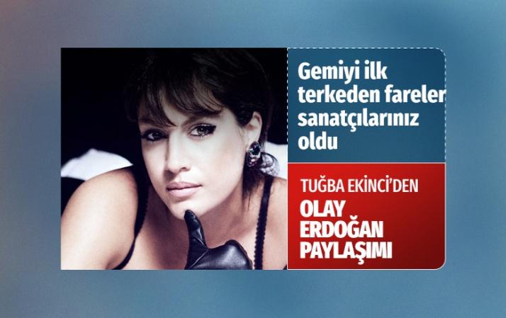 Şarkıcı Tuğba Ekinci'den olay Cumhurbaşkanı Erdoğan paylaşımı! Çok sert sözler