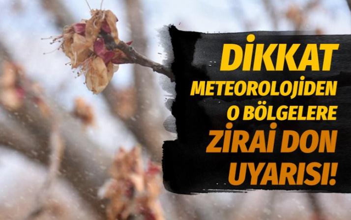Meteorolojiden o bölgelere 'zirai don' uyarısı!