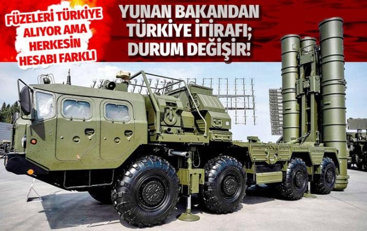 Yunan bakandan S-400'ler için Türkiye itirafı!