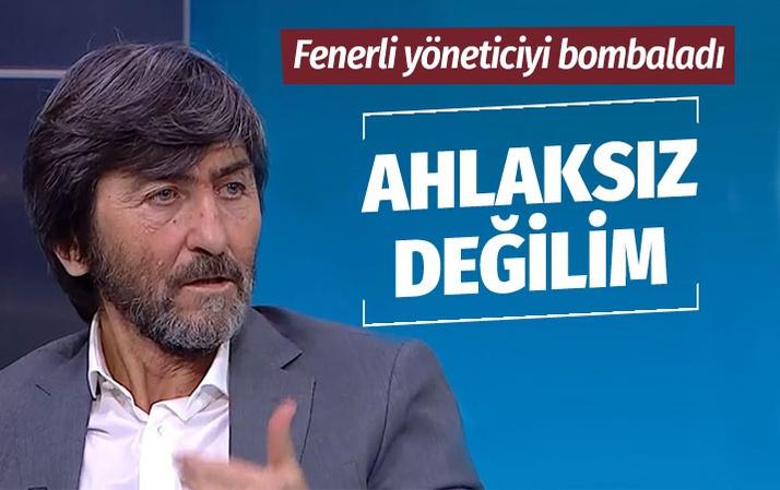 Rıdvan Dilmen'den Semih Özsoy'a sert tepki: Ahlaksız insan değilim
