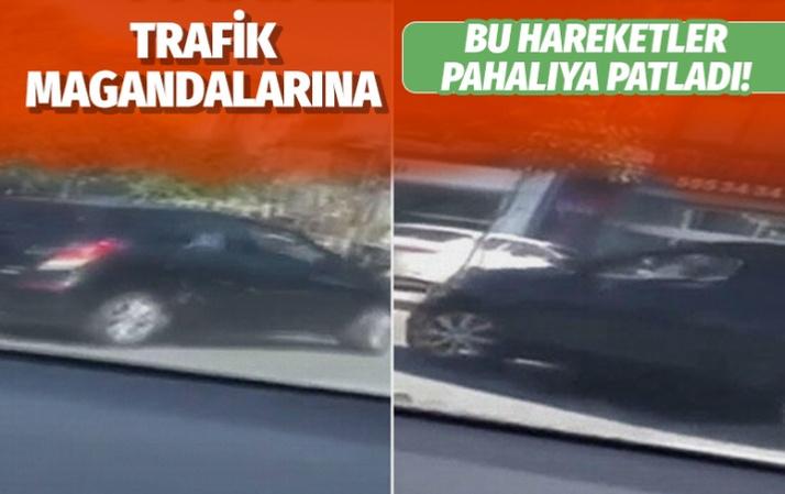 Üsküdar'daki trafik magandalarına 18 bin lira ceza