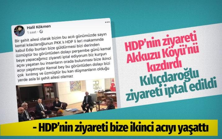 HDP'nin ziyareti kızdırdı o ziyaret iptal edildi