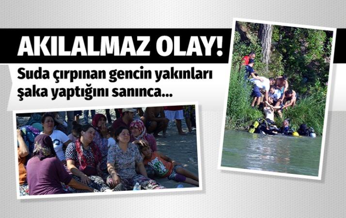 Antalya'da şaka yaptığı zannedilen genç boğuldu