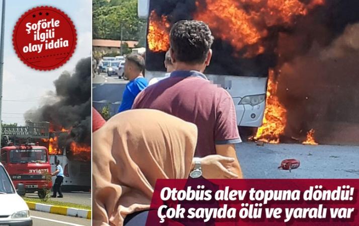 Balıkesir'de yolcu otobüsünde yangın: 5 ölü 17 yaralı