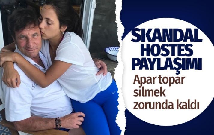 Kaya Çilingiroğlu'nun uçaktaki 'hostes' tepkisi olay oldu skandal kalça paylaşımını sildi