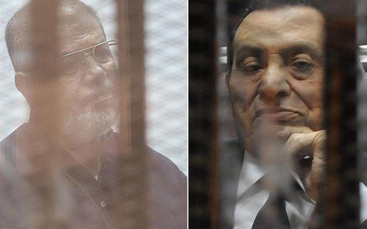 Mısır'da tarihi an Mursi ve Mübarek ilk kez bir araya geldi