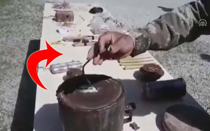 Afrin'de ahırda bulundu! Mehmetçik'in şaşıp kaldığı an
