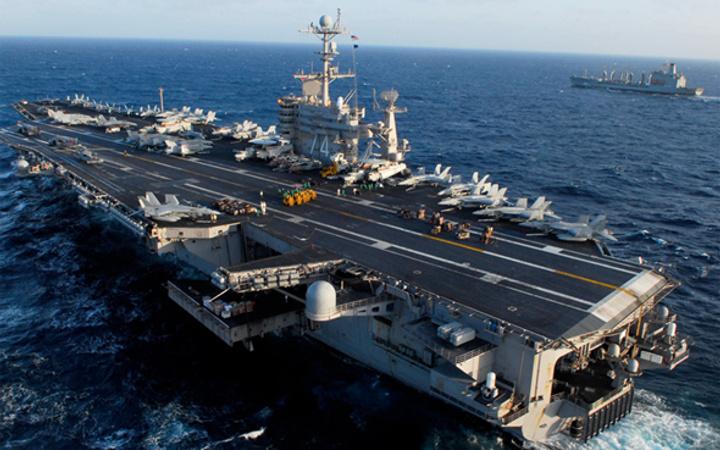 ABD uçak gemisine bakın! Amerika Suriye savaşı için bunu yolladı
