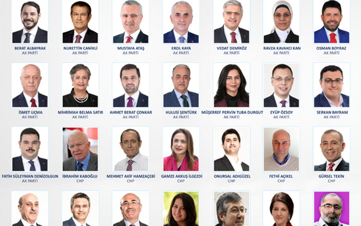 Yeni milletvekilleri il il 27. dönem milletvekilleri listesi