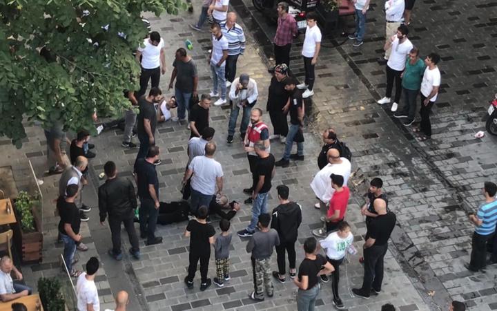 İstanbul Taksim'de meydan kavgası