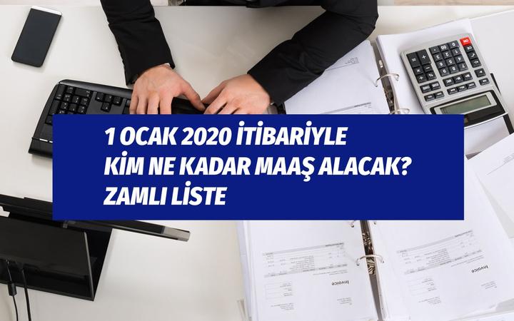 Yeni memur maaşları 2020 polis, imam, doktor, bekçi, gardiyan zamlı tam liste